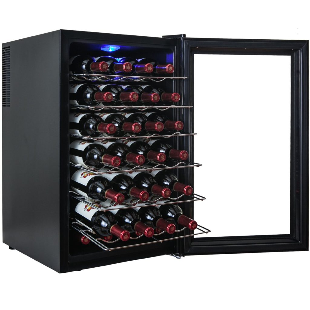 akdy_28_bottle_single_zone_thermoelectric_freestanding_wine_cooler