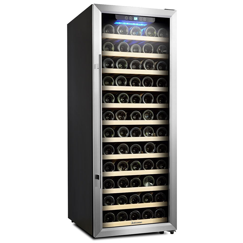 Wine Refrigerator Reviews >> Kalamera 80-Bottle Freestanding Compressor Wine Cooler Review - CoolerVino