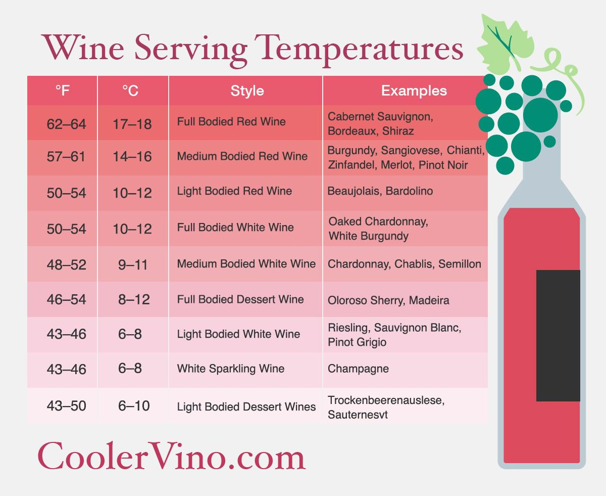 Temperature For Wine Fridge Design Decoration