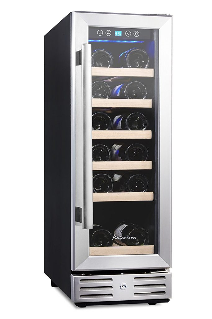 Best wine refrigerator under $500, kalamera 12-inch 18-bottle wine cooler