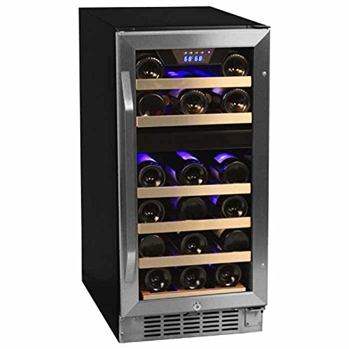 EdgeStar Dual-Zone Stainless Steel Built-In Wine Cooler