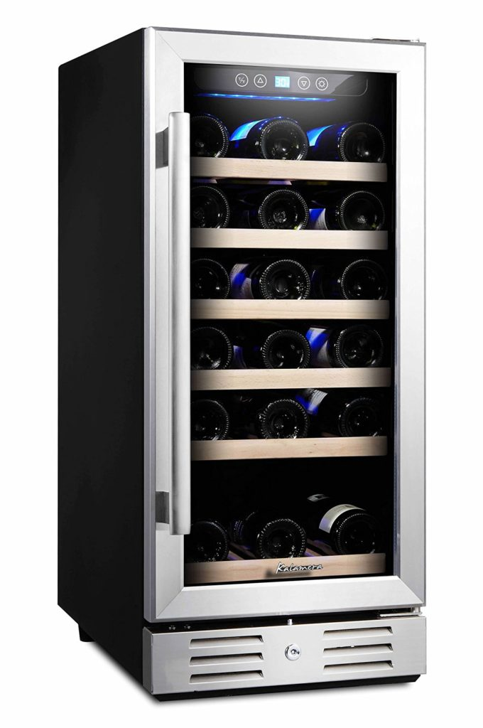 "Kalamera 15"" Wide 30 Bottle Built-In Wine Cooler"
