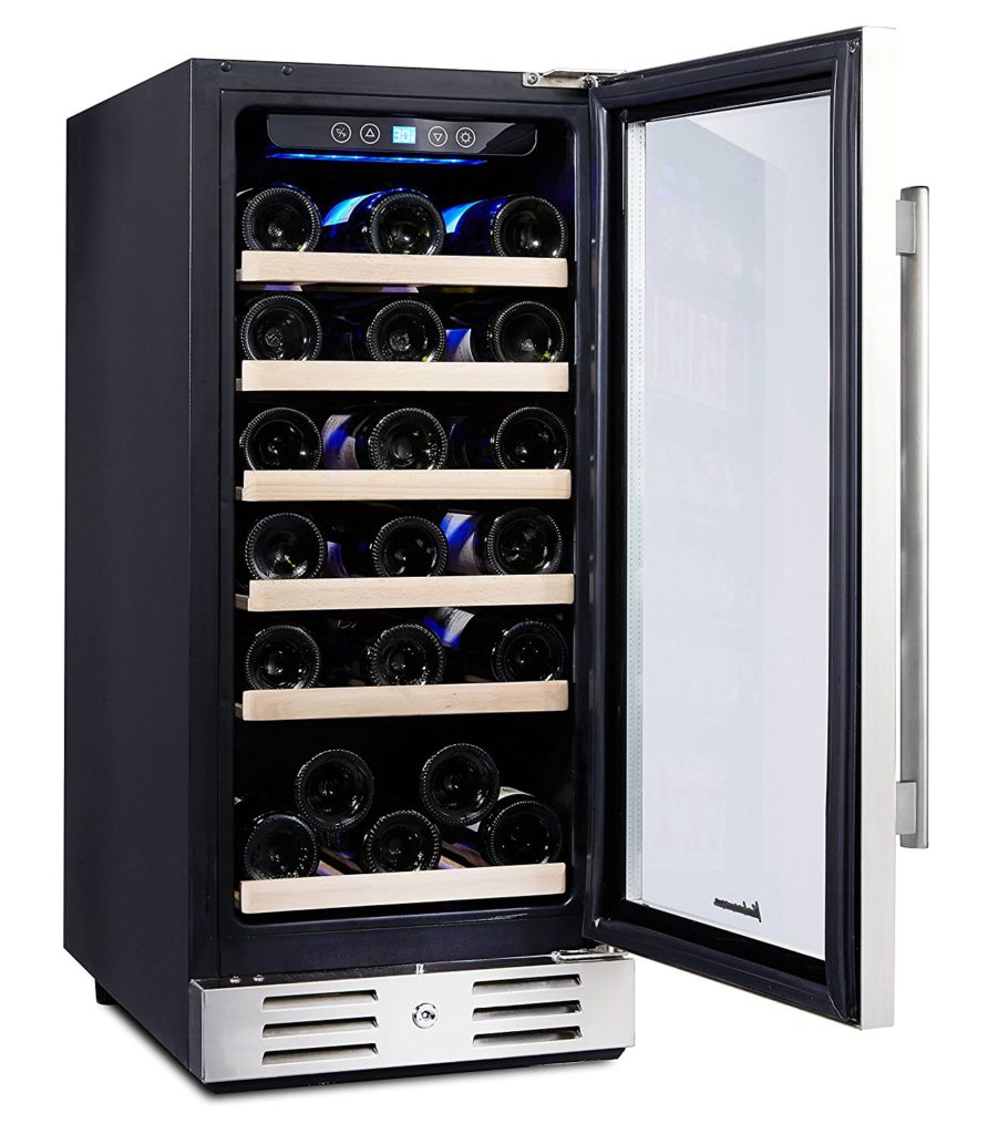 kalamera-15-inch-wide-wine-fridge-door-open